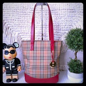 Handbags - Burberry Haymarket Tote Shoulder Bag